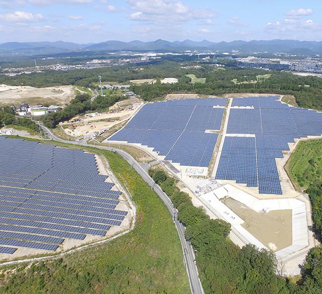 兵庫県三田市太陽光発電所
